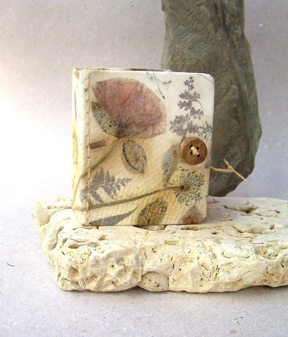 Poppy journal book- Handmade paper