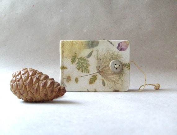 Mini Handmade journal - Handmade paper OOAK