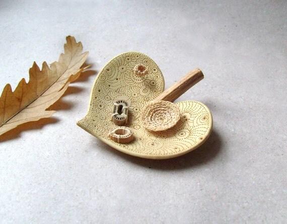 Autumn leaf -heart shape -Home decor
