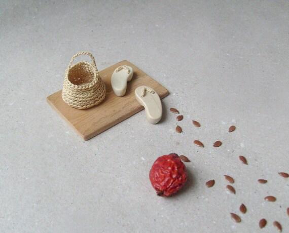 Elf's Door mat set, miniature home decor, native art