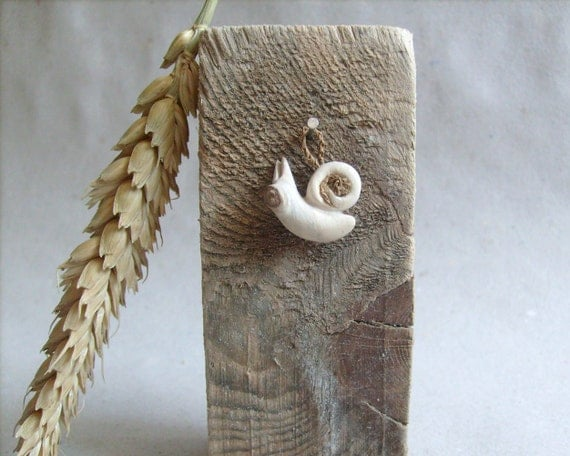 Reserved for Sarah ,Woodland creature, snail - Native wall art ,wood carving, OOAK
