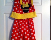 Red Dot Pants Outfit | Minnie Outfit | Pants Outfit | Ruffle  Pants | Disney Outfit |