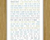 Books and Reading Quotation Print A4 size