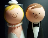 Wedding Cake Topper Bride and Groom READY TO SHIP