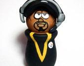 Pittsburgh Steelers Coach Mike Tomlin Wood Figure Handmade