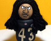 Troy Polamalu 43 The Pittsburgh Steelers Safety Handmade Wood Figure