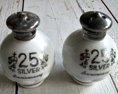 Silver Anniversary Salt and Pepper Shakers Gift under 20