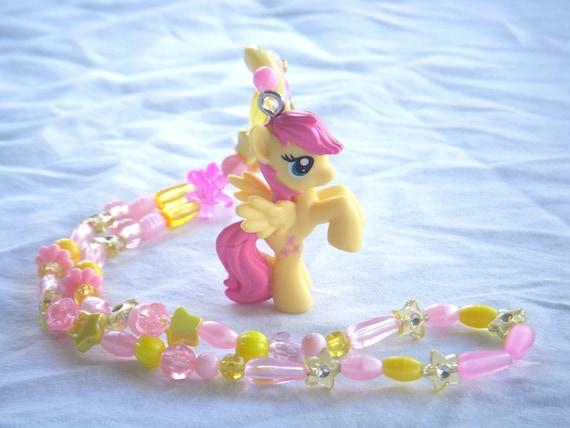 Fluttershy My Little Pony Kandi Necklace