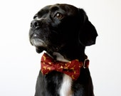 Rust Sprout Bow Tie Dog Collar