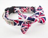 Union Jack Dog Bowtie Collar