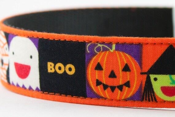 Friendly Creepy Faces Halloween Dog Collar
