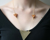 Gold Triple Triangle Necklace
