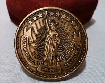 Statue of Liberty 1886-1986 Centennial Medallion