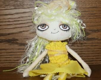 "Doll - Cupcake Cloth Art Doll - ""Anna Banana"""