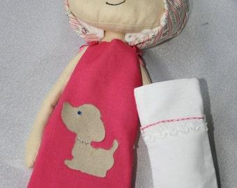 "Doll Cloth Art Rag Doll - ""Resting Rita"""