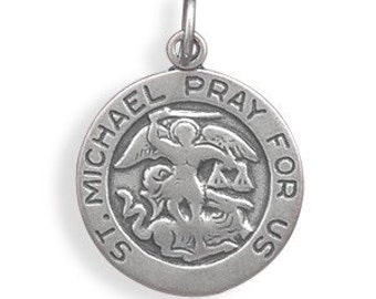 St. Michael Charm, Sterling Silver Nr 73622