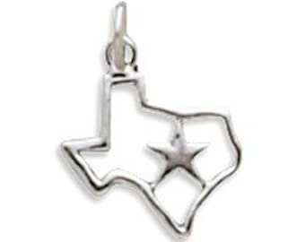 Texas with Star Charm, Sterling Silver Nr 5346