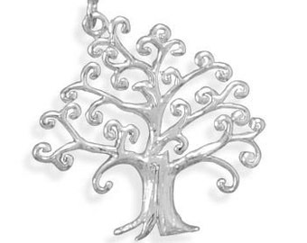 Tree of Life Pendant, .925 Sterling Silver