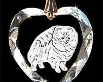 Pomeranian Pom Jewelry Custom Crystal Necklace Pendant, Suncatcher with any Animal or Name YOU Want, Gift, Dog Lover, Handler puppy, trainer