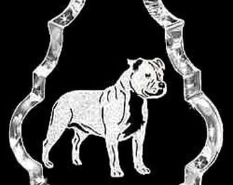 StaffordshirBull Terrier-Staffy Dog Custom Crystal Necklace Pendant Jewelry, Suncatcher made with any Animal or Name YOU Want, Gift,Handler