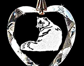 Himayalayan cat Custom Crystal Necklace Pendant Jewelry, Suncatcher made with any Animal or Name YOU Want, Gift, kitty,