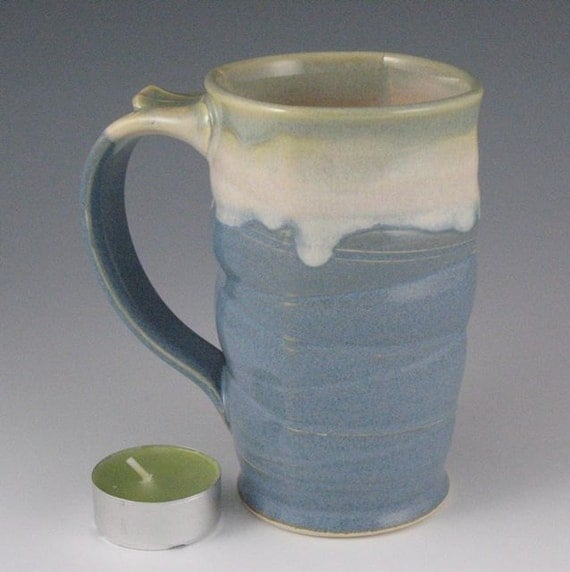 Coffee or Tea Mug in blue sky, vanilla and soft mint