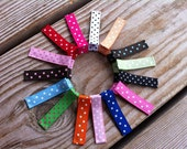 15 Swiss Dots Assorted Colors Clippies