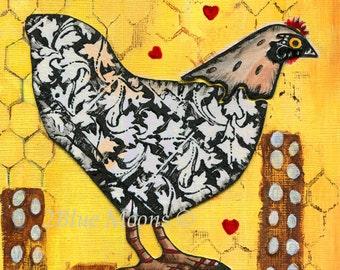 Hen and Eggs Fine Art Giclee Print