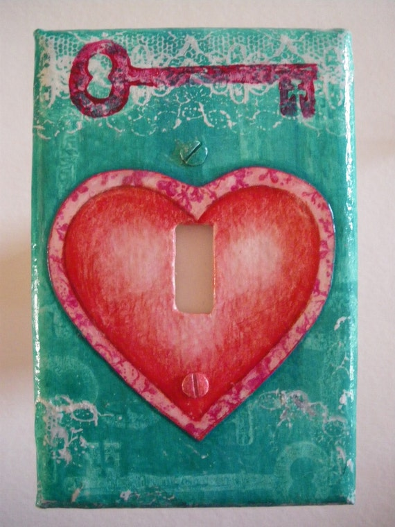 Key To My Heart Single Light Switch Plate