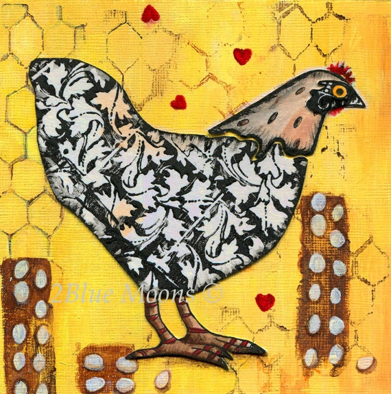 Hen and Eggs Fine Art Giclee Print
