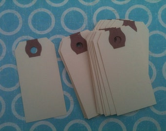 blank shipping TAGS extra small KRAFT manilla tags 50 qty