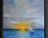 Sail Away - 12x12-inch oil painting