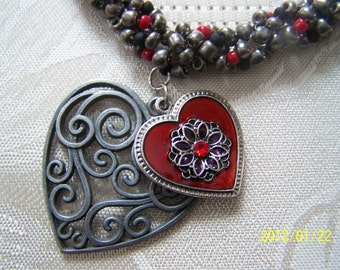 Valentine Pendant Convertible Necklace and Choker Clearance