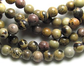 Crazy Horse Stone TM 8mm Round Gemstone Beads