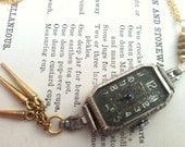 1920's Art Deco Watch Pendant Necklace