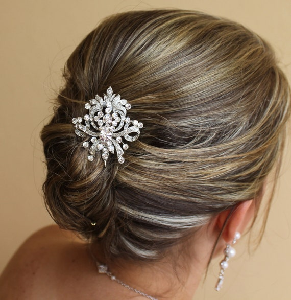 Crystal Bridal Hair Clip, Wedding Hair Accessories, Crystal Bridal Hair Piece, Bridal Hair Comb, ADELE