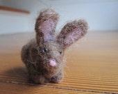 Needle Felted Brown Bunny