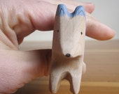 wooden dog, waldorf toy, husky toy