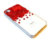 Hello Kitty Inspired Rhinestone iPhone 4 iPhone 4s Case Cover Bow Red Crystals Bling