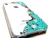 iPhone Case, The Mermaid ,Pearl Rhinestone, iPhone 5c, iPhone 5s, iPhone 4