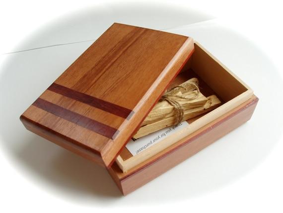 Handmade Mahogany Bloodwood Wood Box by WayuuSusu, Gift Box, Tarot Box, OOAK Made in Canada