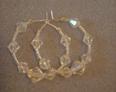 PIF Crystal Hoop Earrings - Pay it forward