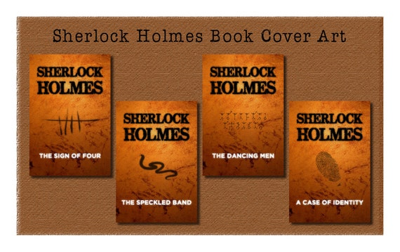 Sherlock Holmes Book Cover Art : Items similar to sherlock holmes book cover art combo pack