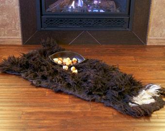 SALE (REGULAR 380USD) - Thick Natural Wool Felt Rug Felt Throw Wall Hanging
