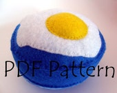 Pin cushion PDF Pattern Make your own Fried Egg Pin cushion