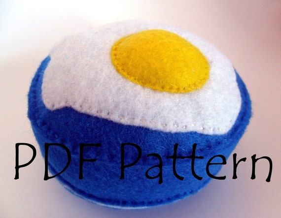 Pin cushion PDF Pattern Make your own Fried Egg Pin cushion