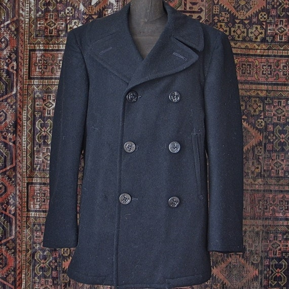 RESERVED FOR ALEC-Navy issued Pea Coat size 36R