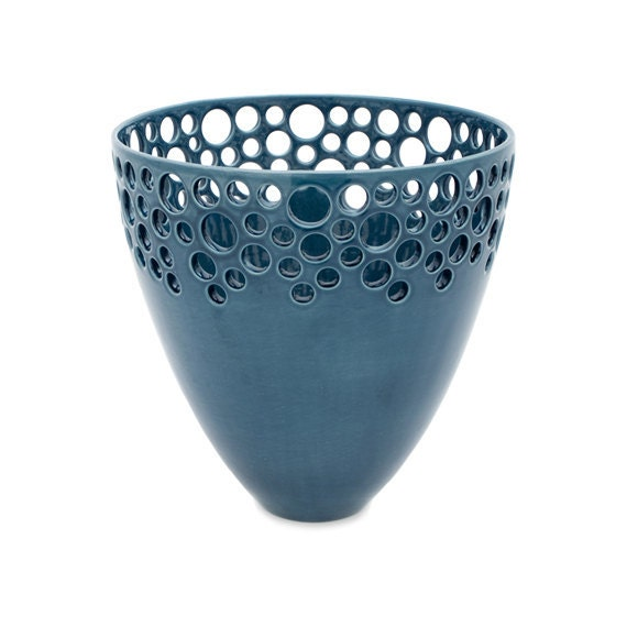 Small Lacey Bee Bowl in Nairobi Blue