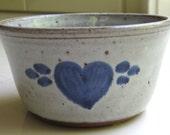 North Carolina Pottery Owens Blue Heart Bowl