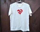 Bamboo T-shirt-Silkscreened Butterfly in Heart Size 6